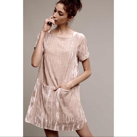 4c7167ba6b38 Anthropologie Dresses & Skirts - ANTHROPOLOGIE Floreat Crushed Velvet Shift  Dress